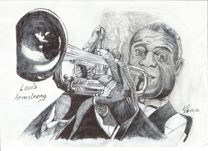 Louis Armstrong by Patoux